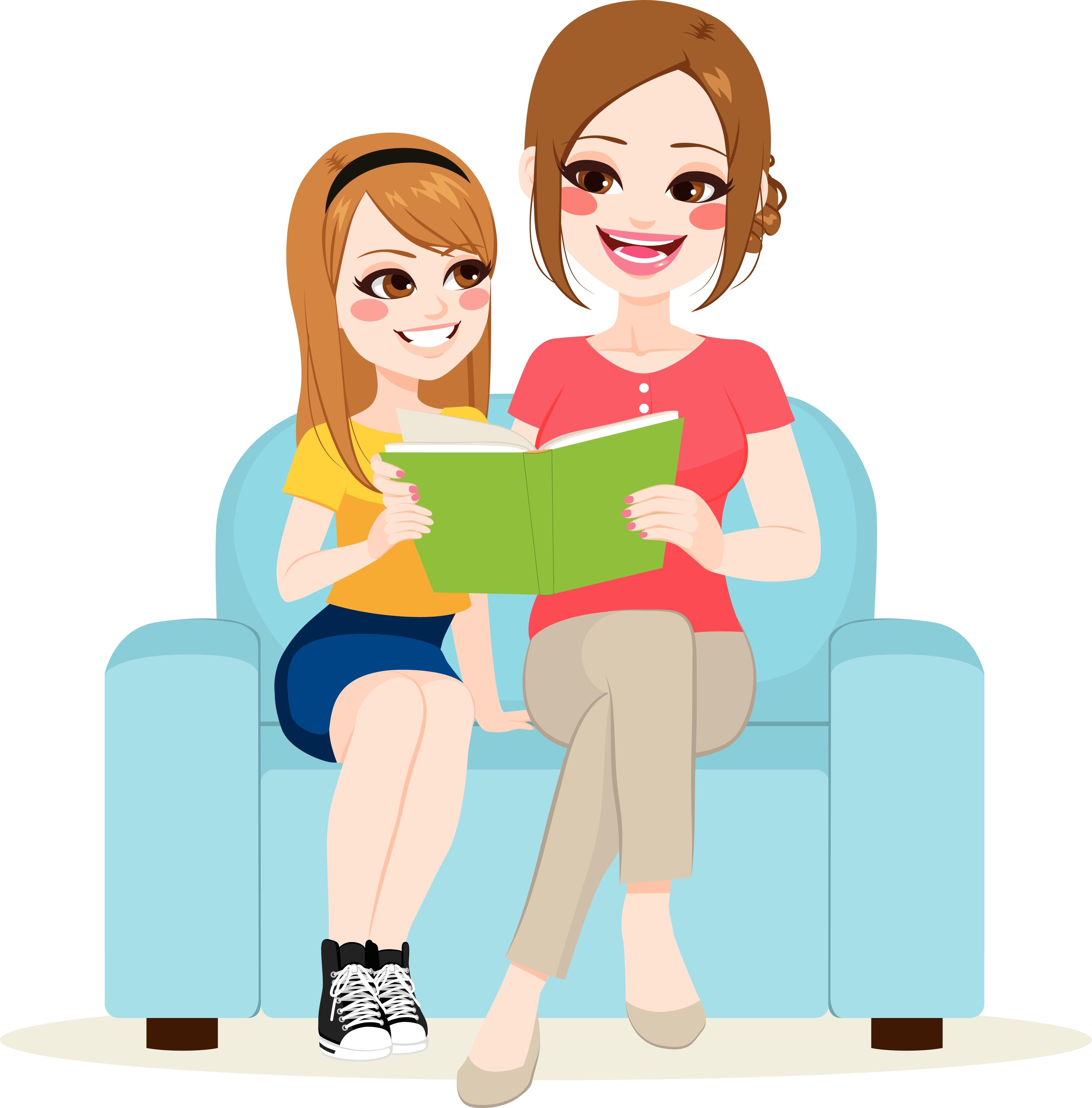 1 maman, sa fille et des livres